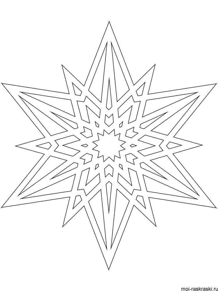 Раскраски снежинки - 9