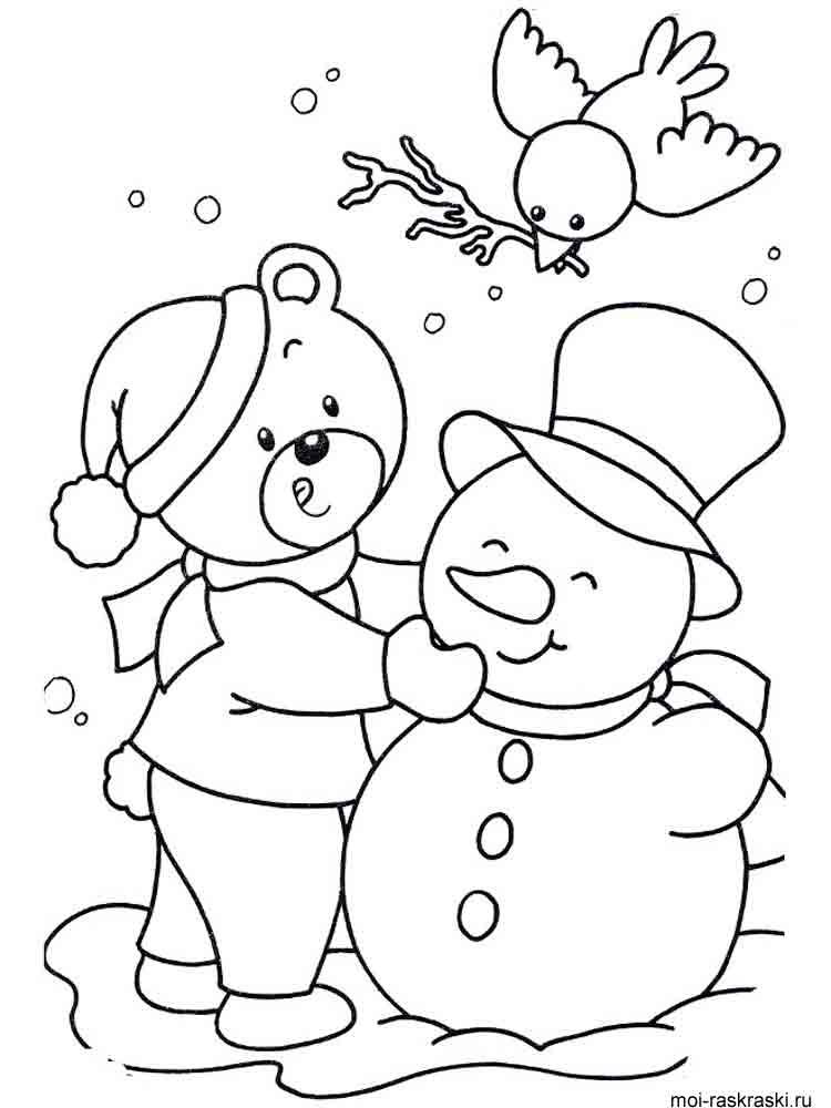 Белые картинки, снеговики картинки раскраски