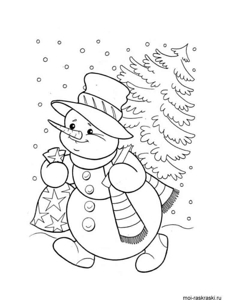 Детские раскраски снегири 3