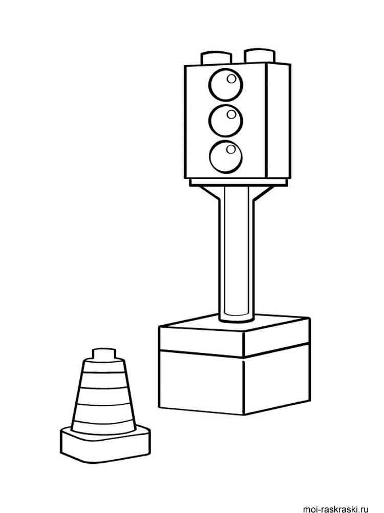 Раскраски Светофор - распечатать в формате А4