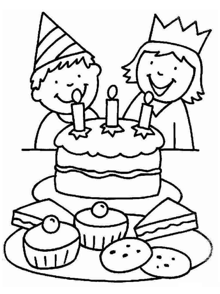 Раскраска день рождения мальчика