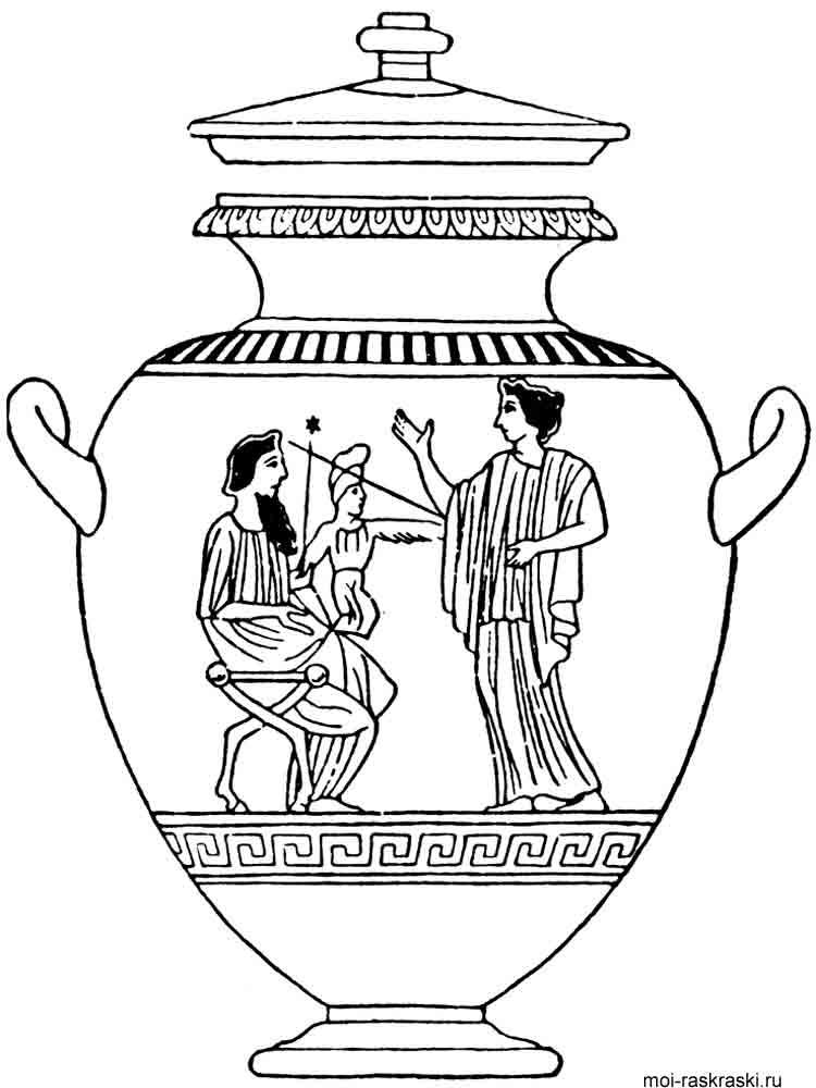 Греческая ваза раскраски