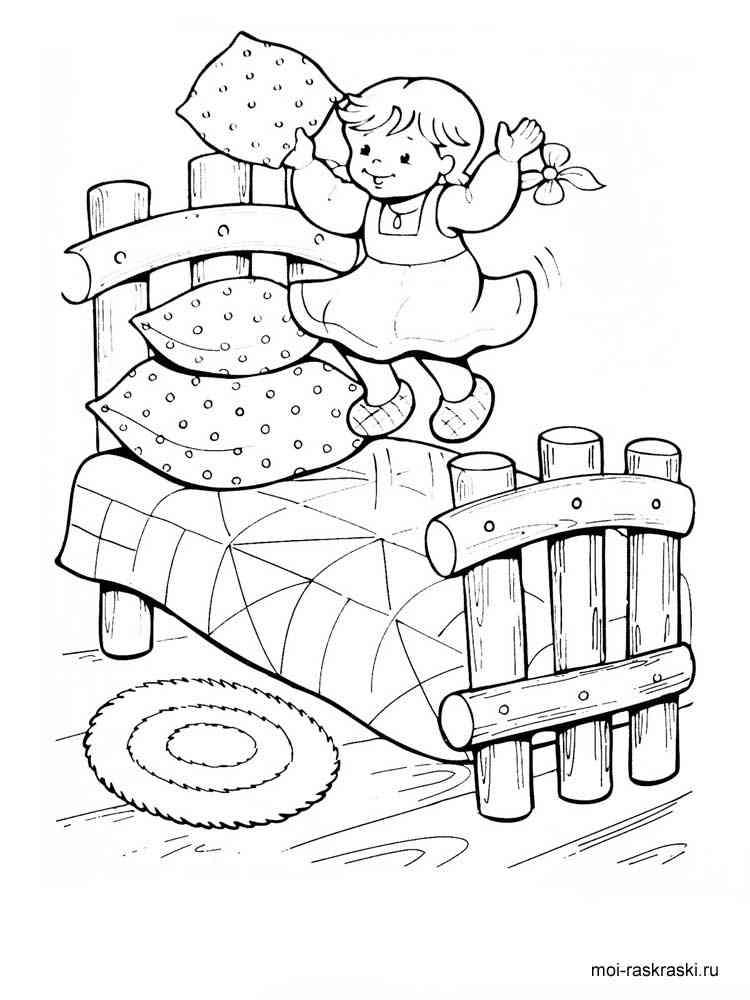Раскраска Три медведя - распечатать в формате А4