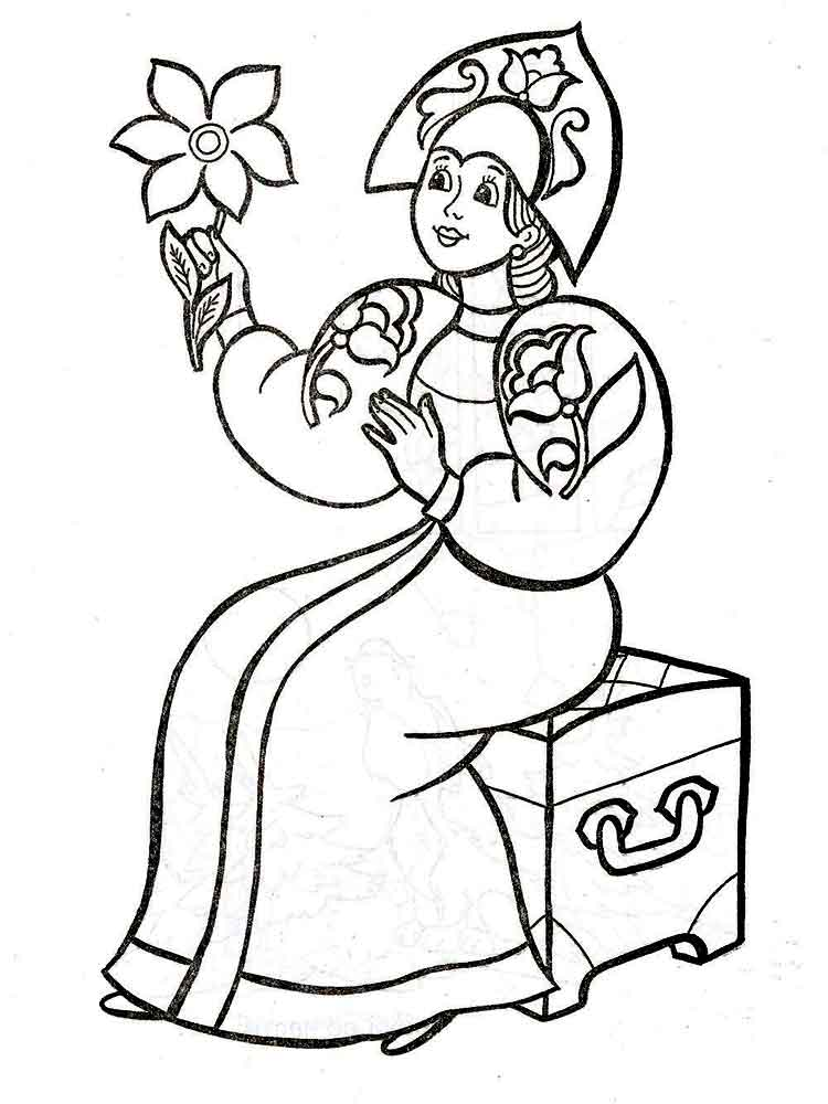 пример аленький цветочек картинки рисунки карандашом абхазском