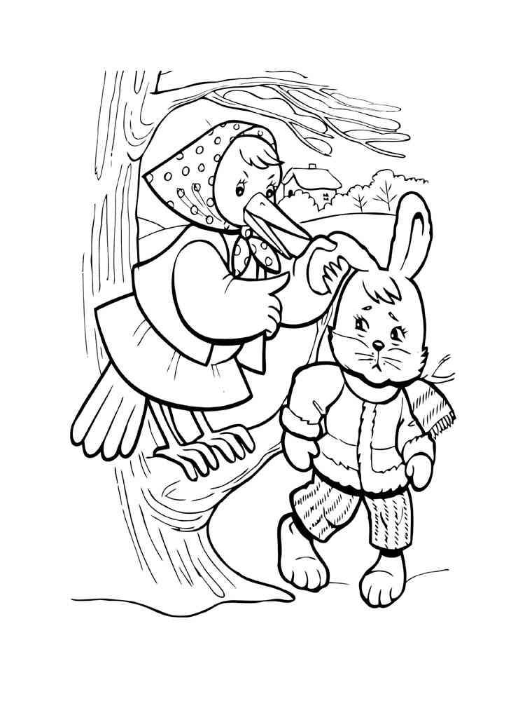 Раскраски Храбрый заяц - распечатать в формате А4