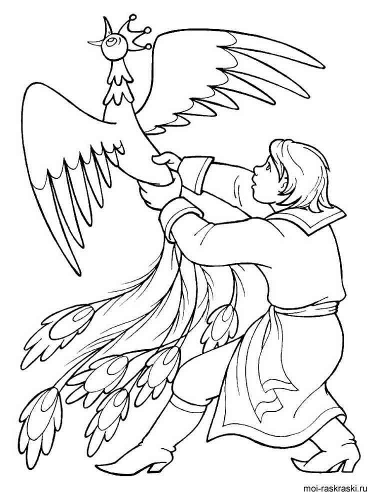 Раскраска Конек-горбунок - распечатать в формате А4