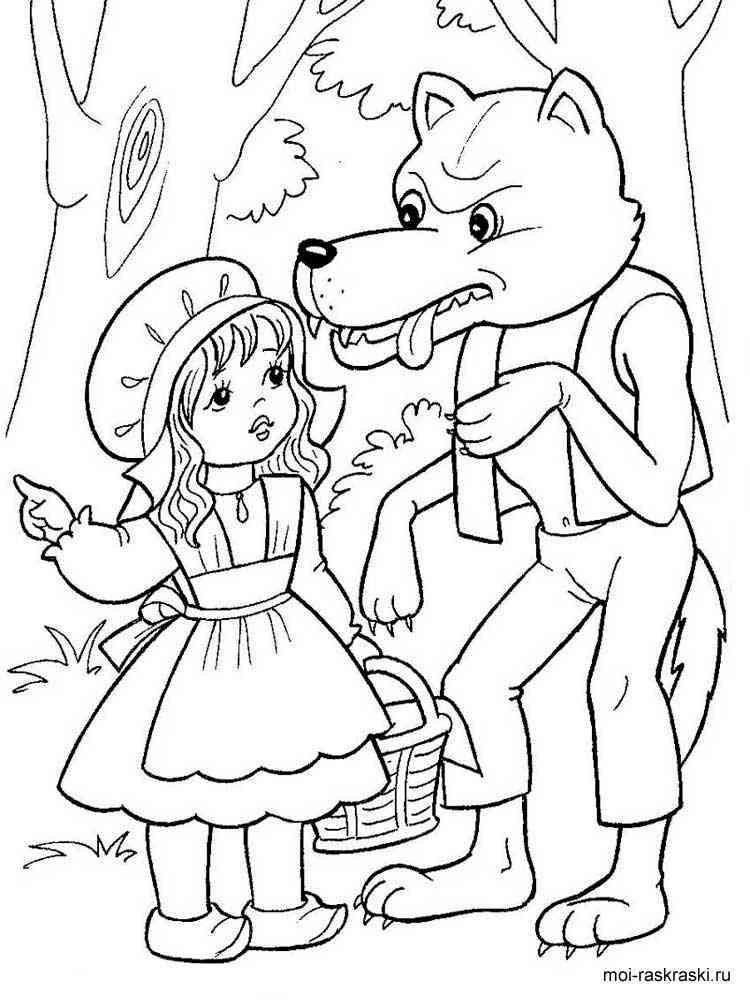 Раскраски по сказкам для детей - 2