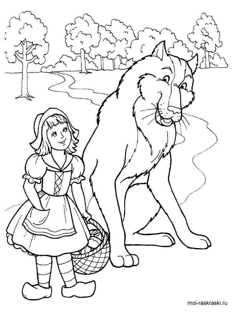 Раскраски по сказкам для детей - 9