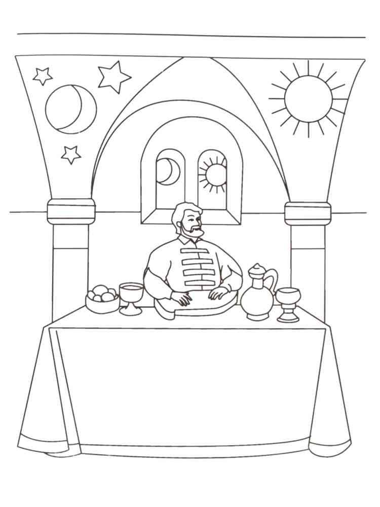 Раскраски Садко - распечатать в формате А4