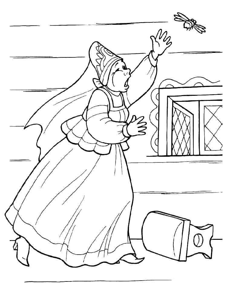 раскраски сказка о царе салтане скачать и распечатать