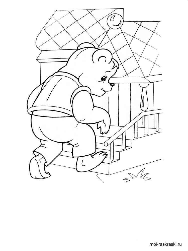 Раскраска герои сказки теремок для детей распечатать