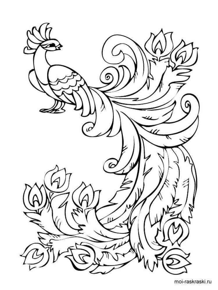 раскраска жар птица скачать и распечатать раскраски жар птица