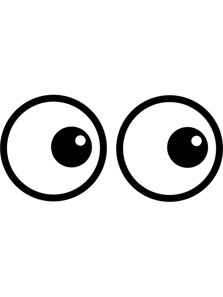 Рисунок глаза смешные